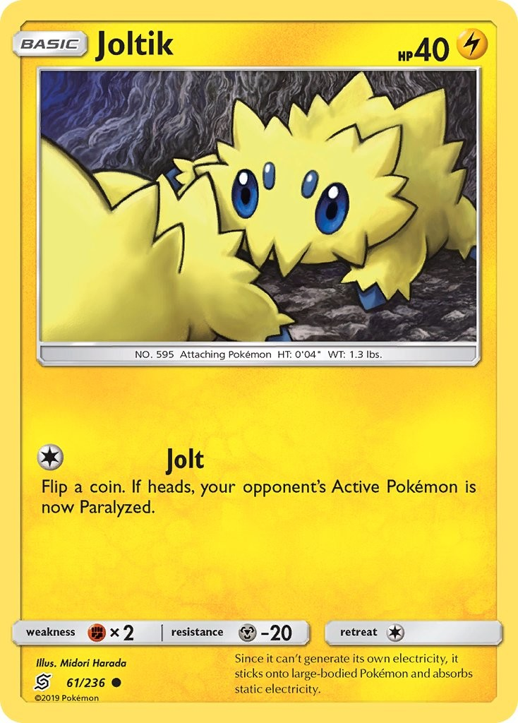 Team Up Set 2019 - NM Common Pokemon Card Joltik 47//181