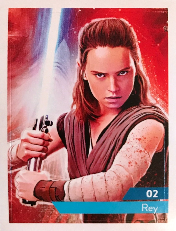 carte star wars leclerc 2020 Rey   carte 02 Star Wars   Maitriser la Force   Leclerc 2019